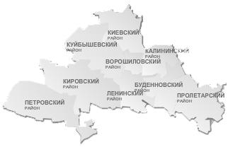 Схема районов Донецка